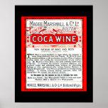 Coca Wine Vintage Remedy copy of 1800's ad Poster