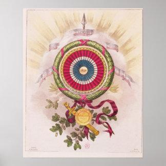 Cocarde, emblème de 1848 posters