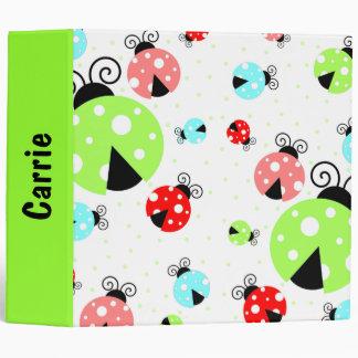 Coccinelle et classeur colorés de point de polka