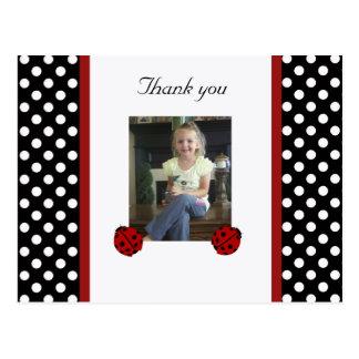 Coccinelle : Image : Carte postale de Merci