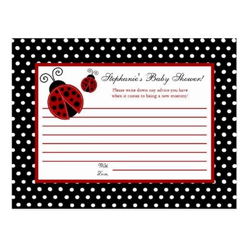 Coccinelle programmable de rouge de carte de conse cartes postales