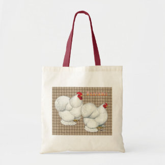 Cochin:  White Bantams Tote Bag