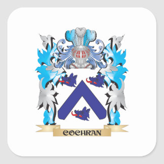 Cochran Coat of Arms - Family Crest Square Sticker