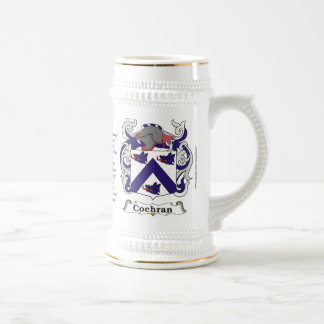 Cochran Family Coat of Arms Stein 18 Oz Beer Stein