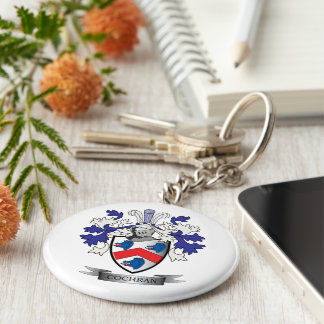 Cochran Family Crest Coat of Arms Basic Round Button Keychain