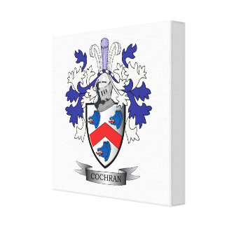 Cochran Family Crest Coat of Arms Canvas Print