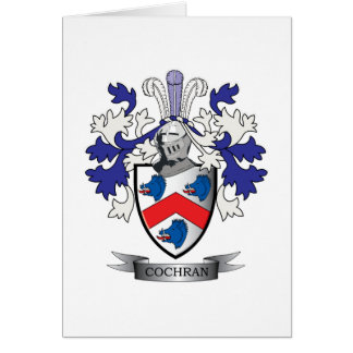 Cochran Family Crest Coat of Arms Card