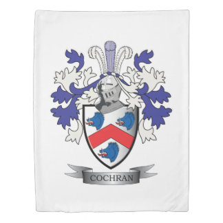 Cochran Family Crest Coat of Arms Duvet Cover