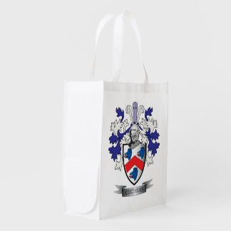 Cochran Family Crest Coat of Arms Grocery Bag