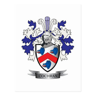 Cochran Family Crest Coat of Arms Postcard