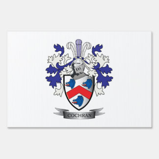 Cochran Family Crest Coat of Arms Sign
