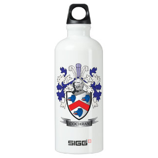 Cochran Family Crest Coat of Arms Water Bottle