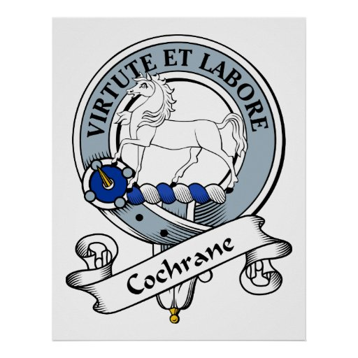 Cochrane Clan Badge Posters