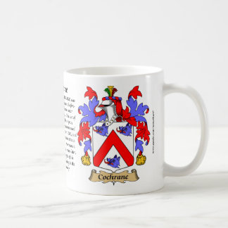 Cochrane, the Origin, the Meaning and the Crest Coffee Mugs