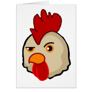 Cock With Attitude Card