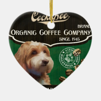 Cockapoo Brand – Organic Coffee Company Ceramic Heart Ornament