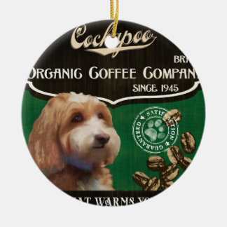 Cockapoo Brand – Organic Coffee Company Round Ceramic Ornament