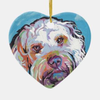 Cockapoo Bright Colorful Pop Dog Art Ceramic Ornament