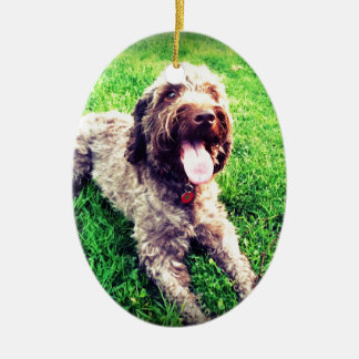 Cockapoo Ceramic Oval Ornament