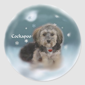 Cockapoo Christmas Gifts Classic Round Sticker