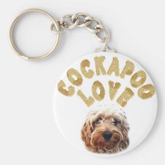 Cockapoo love keychain