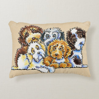 Cockapoo Rainbow Decorative Pillow