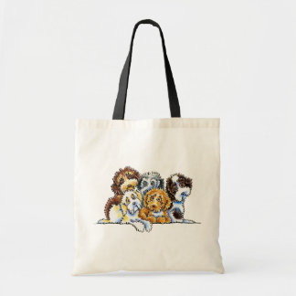 Cockapoo Rainbow Tote Bag