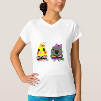 Cockatiel and Senegal Parrot characters in kimonos T-Shirt