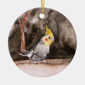 cockatiel bird ornament