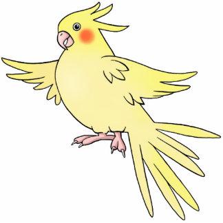 Cockatiel Bird Pin Photo Sculpture Button