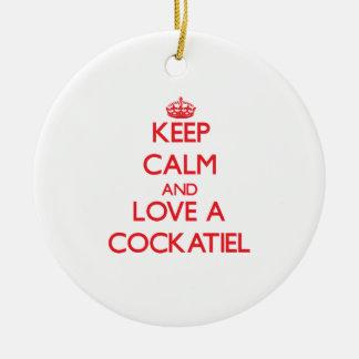 Cockatiel Ceramic Ornament