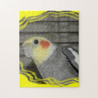 Cockatiel closeup PUZZLE