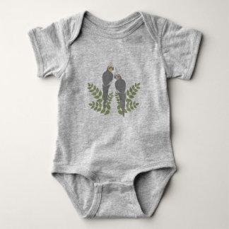 Cockatiel Couple Baby Bodysuit