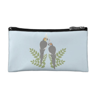 Cockatiel Couple Cosmetic Bag