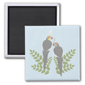 Cockatiel Couple Magnet