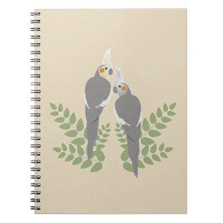 Cockatiel Couple Notebooks