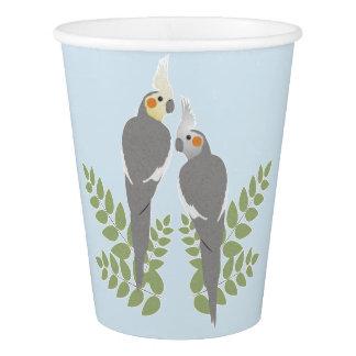 Cockatiel Couple Paper Cup