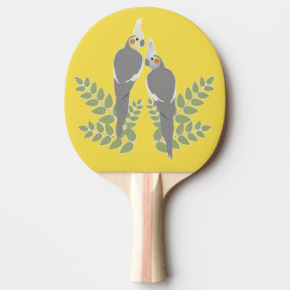 Cockatiel Couple Ping Pong Paddle