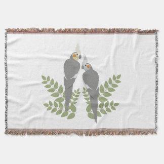 Cockatiel Couple Throw Blanket