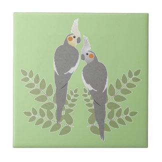 Cockatiel Couple Tile