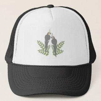Cockatiel Couple Trucker Hat