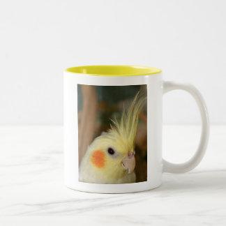 Cockatiel Cutie Two-Tone Coffee Mug