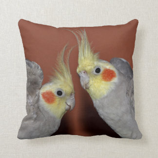Cockatiel Duo Pillow
