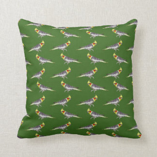 Cockatiel Frenzy Pillow (Green)