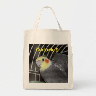 Cockatiel Grocery Tote Bag