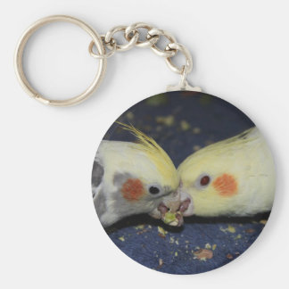 Cockatiel Love Keychain