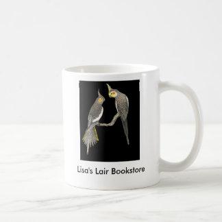 Cockatiel Pair - Nymphicus hollandicus on Black Coffee Mug