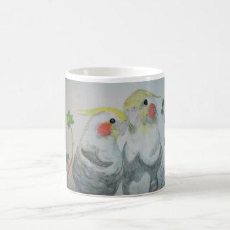 Cockatiel Parrots watercolor Coffee Mug