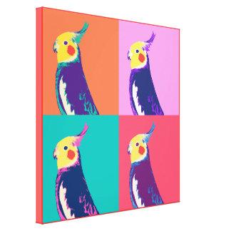 Cockatiel Pop Art Canvas Print