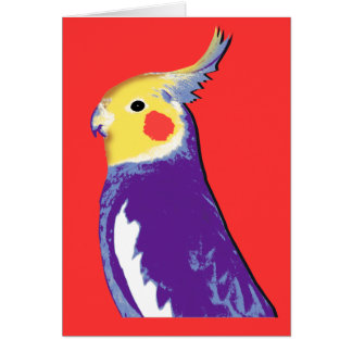 Cockatiel Pop Art Card